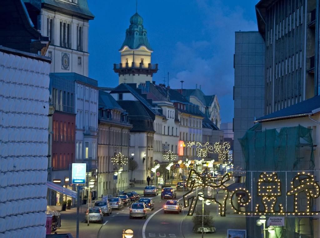 Die Völklinger Weihnachtsbeleuchtung (Foto: Stadt)