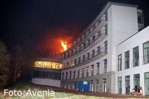 Brand im Püttlinger Krankenhaus (Foto: Avenia)