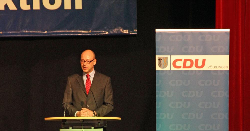 Stefan Rabel bei einer Rede (Foto: CDU Völklingen-Mitte)