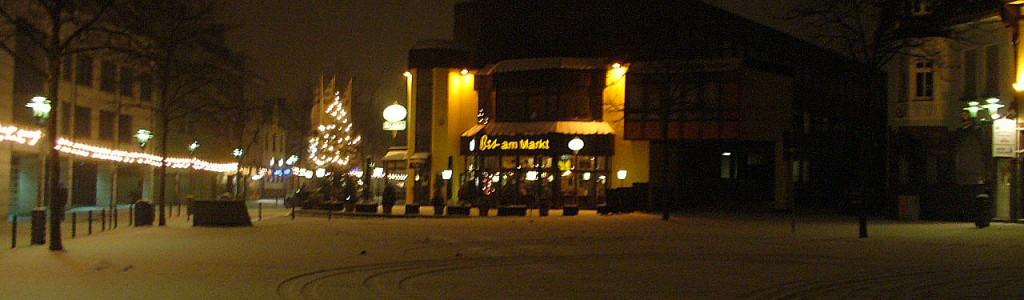 Weihnachtsbeleuchtung am Markt (Foto: Privat)