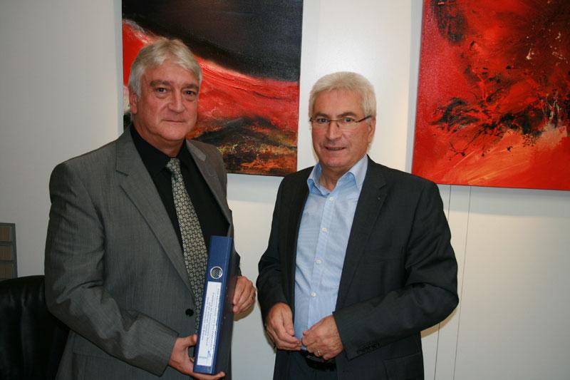 Experte Thomas Wittek und Klaus Lorig (Oberbürgermeister) [Foto: Stadt]