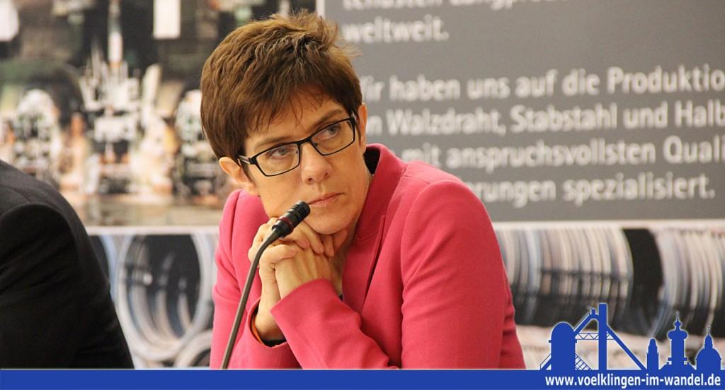 """Annegret Kramp-Karrenbauer, Ministerpräsidentin des Saarlandes: """"Das Saarland weist im Vergleich der Bundesländer die zweithöchste Industriedichte auf."""" (Foto: Hell)"""