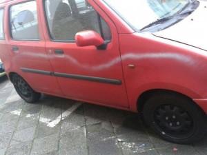 Nicht nur dieser Microvan wurde beschmiert (Foto: Privat)