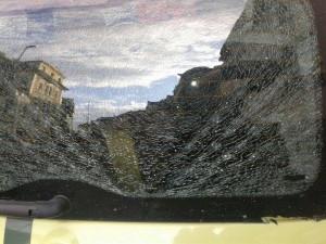 Die zerschlagene Heckscheibe (Foto:Privat)