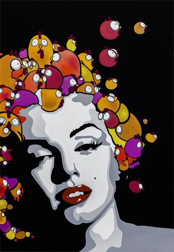 Fouad Ceet: Marilyn New Hair Cut, 2014 Exponat der UrbanArt Biennale® 2015 im Weltkulturerbe Völklinger Hütte Copyright: Fouad Ceet