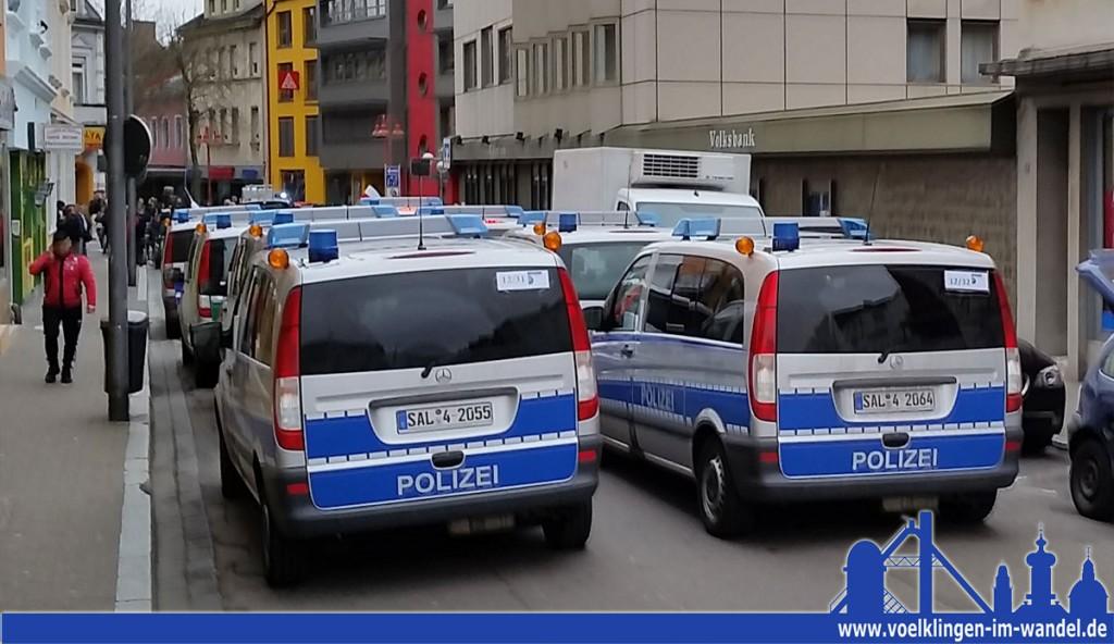 Auch am Montag wird in Völklingen viel Polizei sein (Foto: Hell)