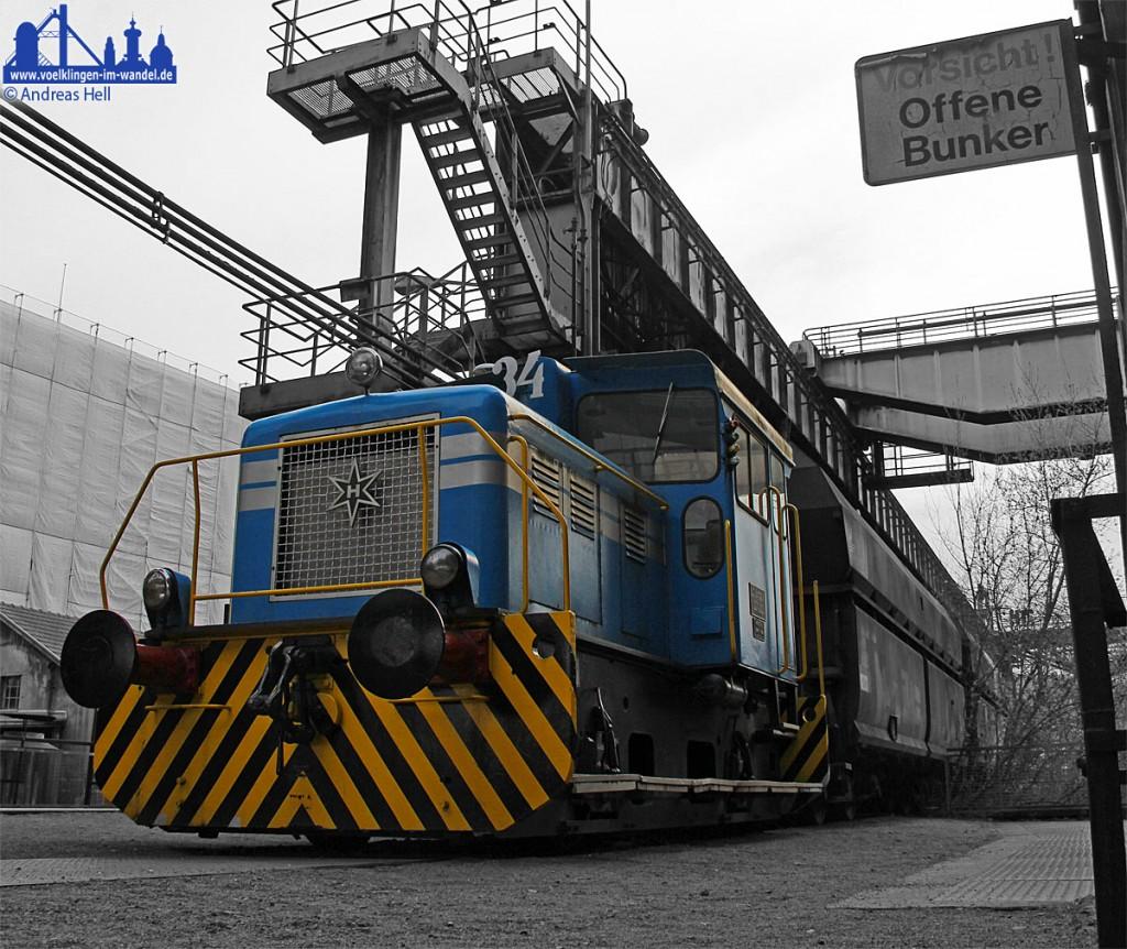 Für Bahnliebhaber: Viele der alten Gleisfahrzeuge grüßen auf dem Gelände des Weltkulturerbes und laden u.A. Kinder zum Spielen ein (Foto: Hell)