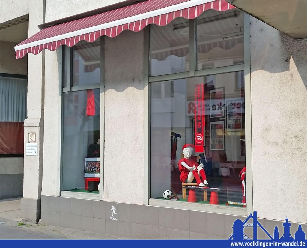 Der neue Fanshop des SVR in der Rathausstraße