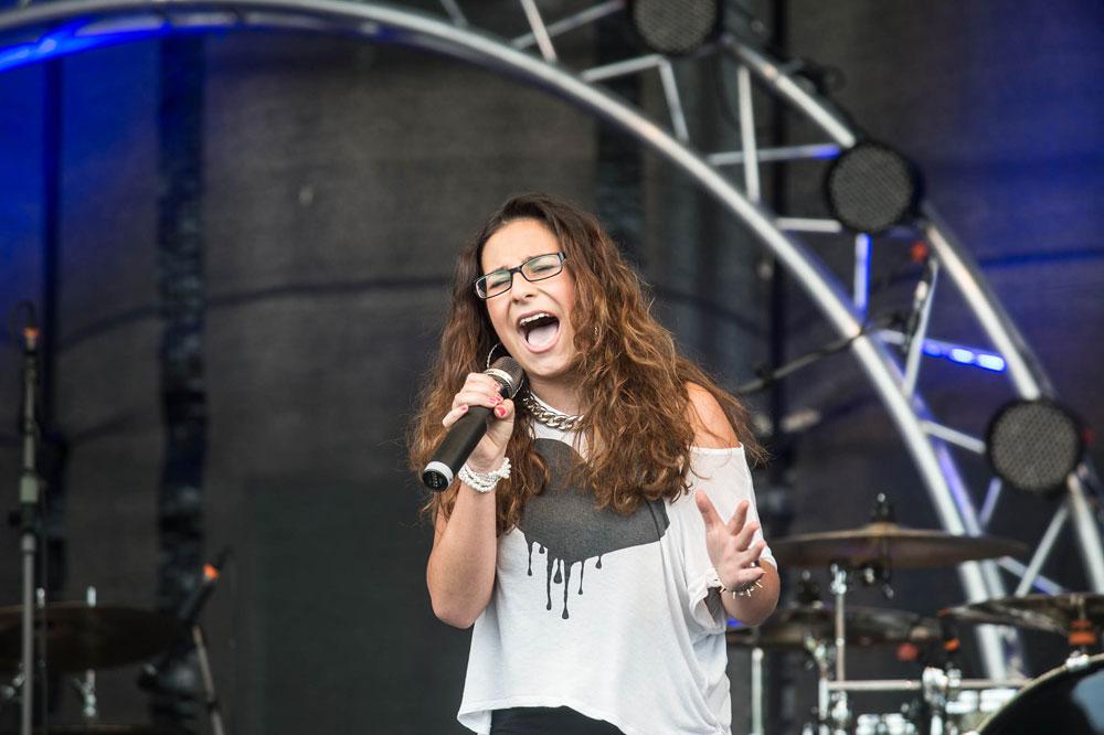 Eine Teilnehmerin des Song-Contests im letzten Jahr (Foto: Stadt)