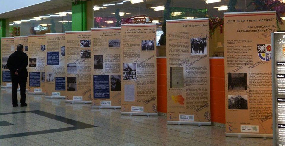 Ausstellung des Netzwerkes für Demokratie und Courage Saar (NDC) über die erste Saarabstimmung