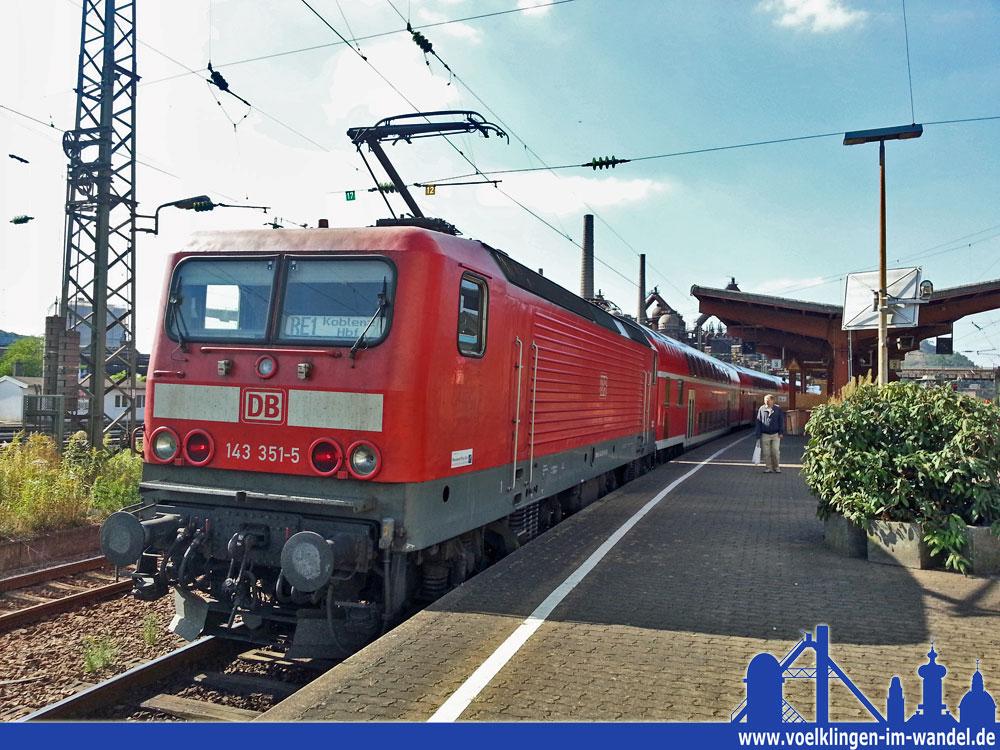 Ein Regionalexpress nach Koblenz im Bahnhof Völklingen (Symbolisches Foto)