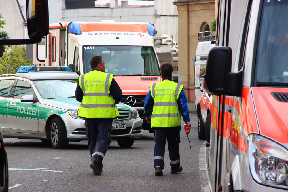 Auch der Stördienst der Stadtwerke stellte kein austretendes Gas fest (Foto: Hell)