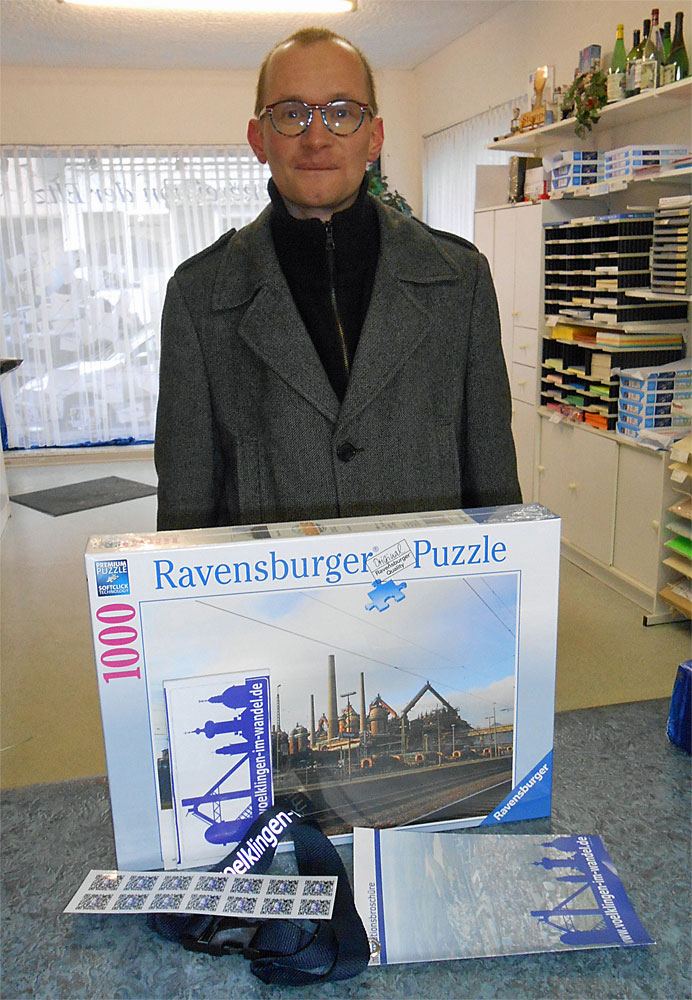 Martin H. aus Völklingen freut sich über seinen Preis (Foto: von der Eltz-Hell)