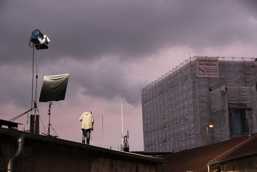 Szenen dieses Filmprojekts spielen in der Handwerkergasse des Völklinger Weltkulturerbes (foto: Hell)