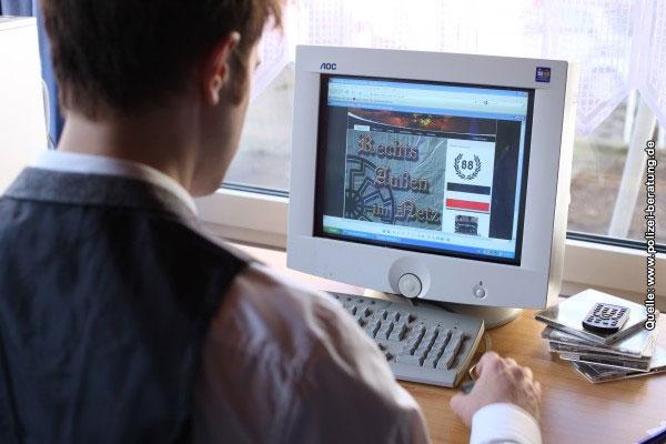 Radikalität im Netz, Symbolfoto. Quelle: www.polizei-beratung.de