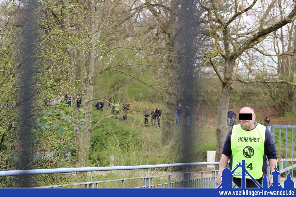 Ca. 20 Fans jubelten im Wald über die FCS-Treffer (Foto: Hell)