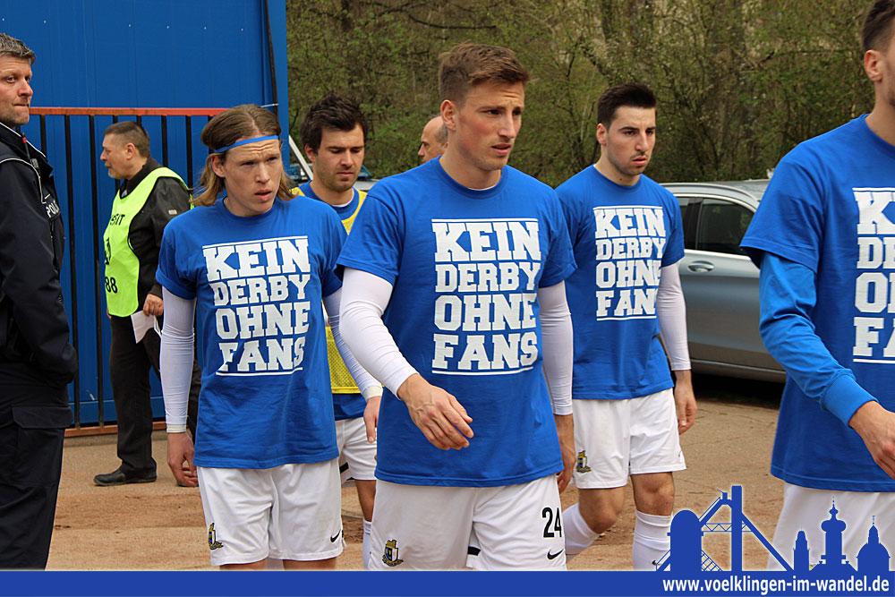 """""""Kein Derby ohne Fans"""", eine schöne Aktion von Trier (Foto: Hell)"""