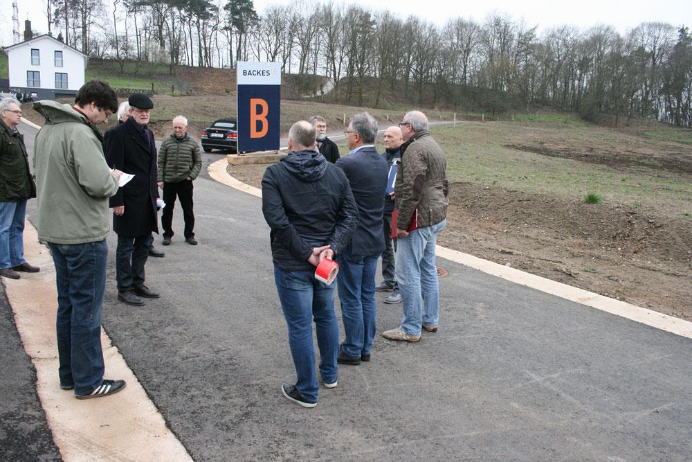 Erschließung des Zweiten Bauabschnittes zum Neubaugebiet Hirzeckberg im Stadtteil Geislautern (Foto: Stadt VKL)