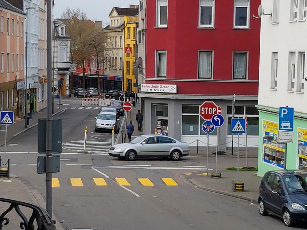 Wegen Bauarbeiten ist die Verkehrsführung in der Innenstadt geändert (Foto: Hell)