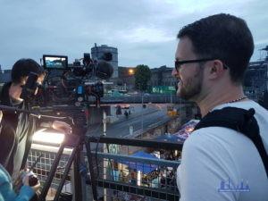 Auch Andreas Hell war bei den Dreharbeiten mit dabei - ob er auch im Film zu sehen sein wird? (Foto: Rech)