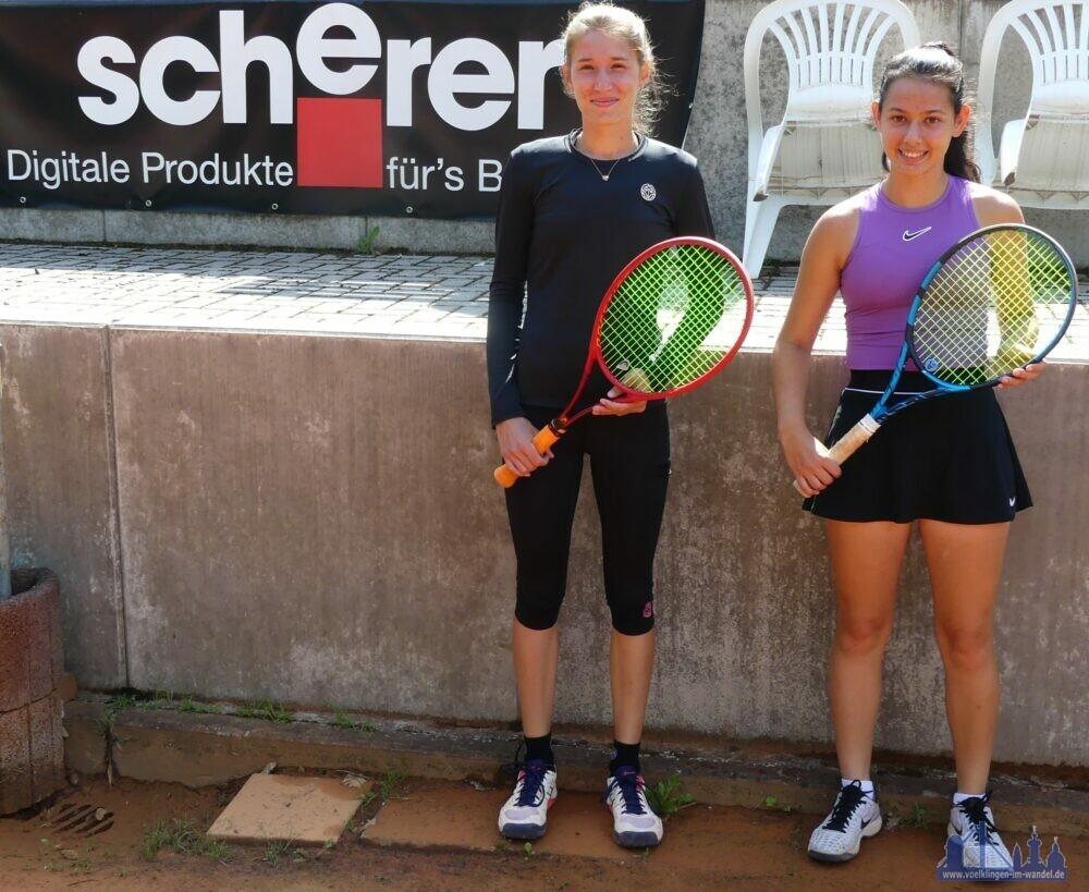 von links: Sofie Schwenkreis, TuS 1860 Neunkirchen, DTB 202 Sophie Schäfer, TC Rotenbühl