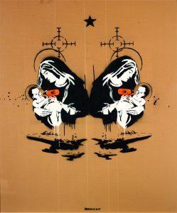 Banksy, Toxic Mary (double), Unique, 2003 Sprühfarbe und Emulsion auf Karton, 206 x 176 cm Galerie Kronsbein, München Copyright: © Weltkulturerbe Völklinger Hütte/Hans-Georg Merkel