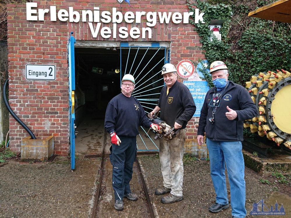 Ralf Müller, Hans Dobelmann, Volker Etgen (1. Vorsitzender EBV e.V.) (Foto: Carsten Grammes)