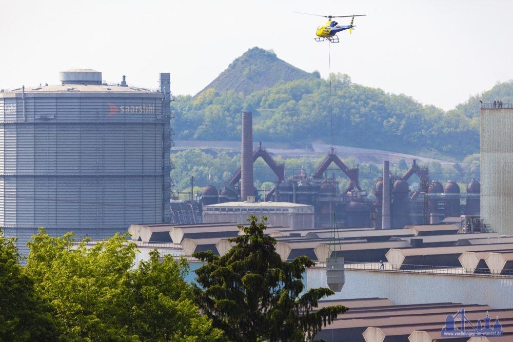 Hubschrauber-Aktion, Foto: Uwe Braun / SHS - Stahl-Holding-Saar