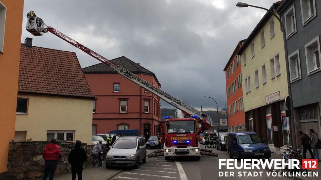 Kaminbrand in der Innenstadt (Foto: Feuerwehr Völklingen)