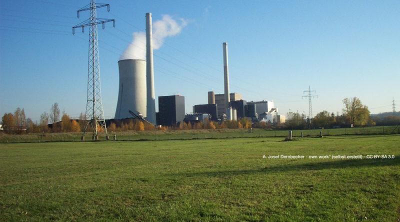 """Kraftwerk Ensdorf (Foto: A. Josef Dernbecher - own work"""" (selbst erstellt) - CC BY-SA 3.0-Lizenz)"""