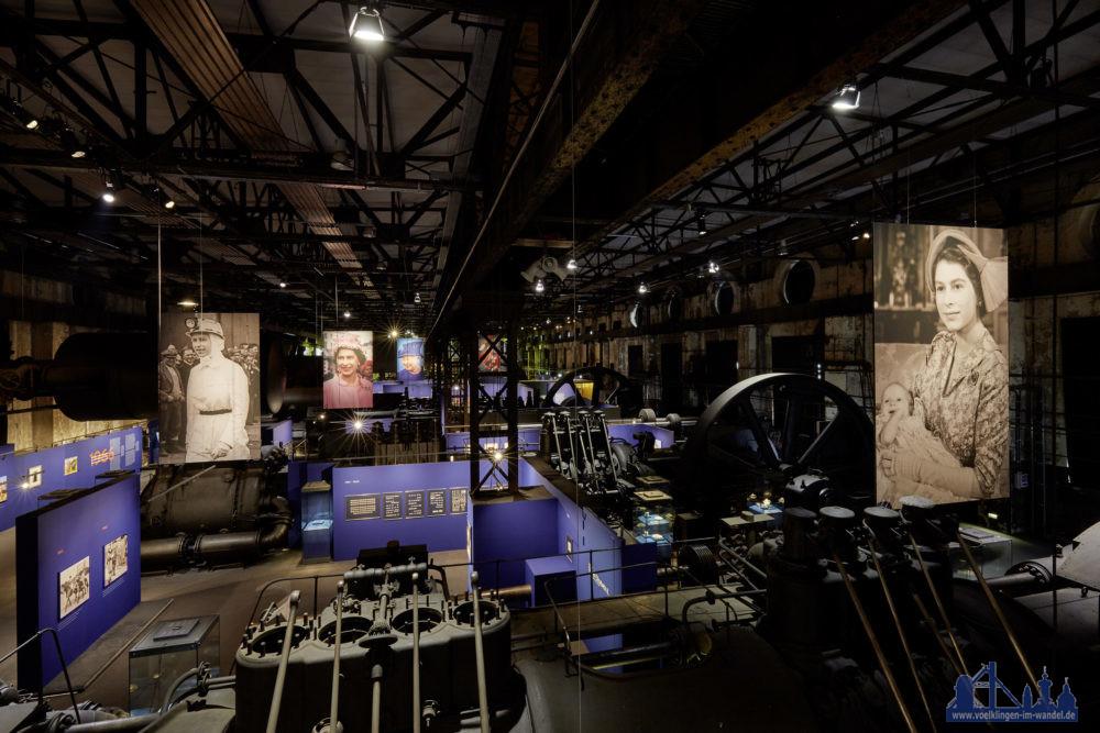 """Die Ausstellung """"Legende Queen Elizabeth II. Sammlung Luciano Pelizzari"""" im Weltkulturerbe Völklinger Hütte Copyright: Weltkulturerbe Völklinger Hütte/Hans-Georg Merkel"""
