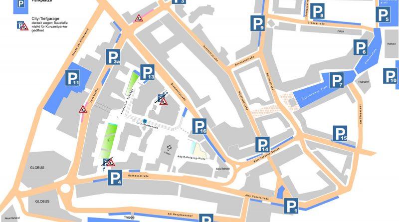 Parkraumplan 2016 in Völklingen (Grafik: Stadt VKL)