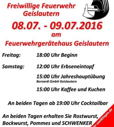 Sommerfest des Löschbezirk Geislautern
