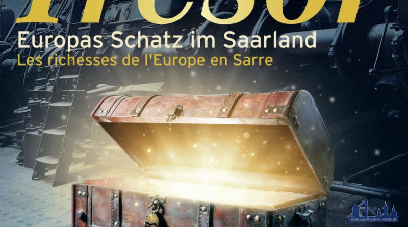 "Plakat zur Ausstellung ""Mon Trésor - Europas Schatz im Saarland"" im Weltkulturerbe Völklinger Hütte, ab 12. September 2020 Copyright Foto: Weltkulturerbe Völklinger Hütte/Glas AG"