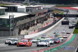 Start zum Porsche Super Sports Cup auf dem Red Bull Ring in Österreich - Foto: Porsche
