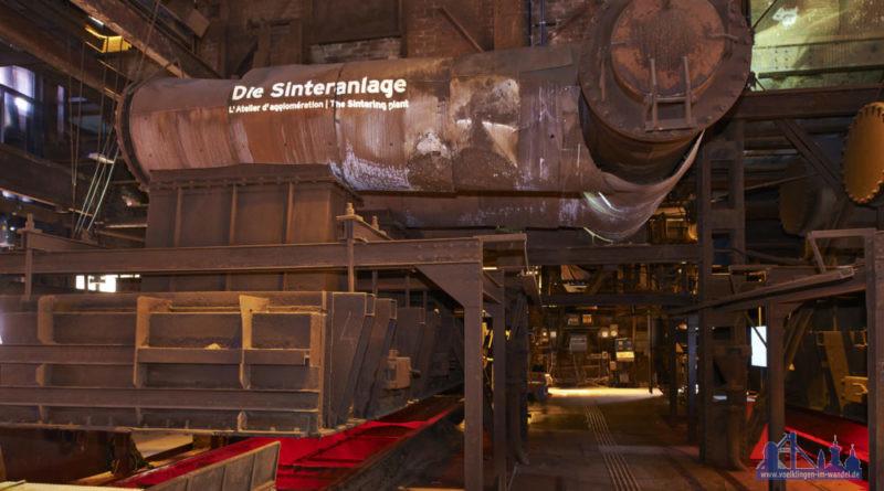 Sintermaschine im UNESCO BesucherZentrum (seit 2014) des Weltkulturerbes Völklinger Hütte Copyright: Weltkulturerbe Völklinger Hütte/Tom Gundelwein