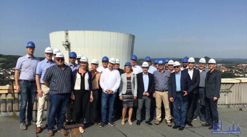Oberbürgermeisterin Christiane Blatt (Bildmitte) mit UnternehmerInnen Foto: STEAG/Stadt