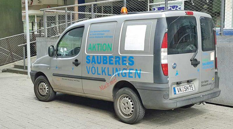 """""""Aktion Sauberes Völklingen"""" - von dieser Aktion blieb nur der nun reaktivierte """"Flotte Feger"""" übrig. (Foto: Hell)"""