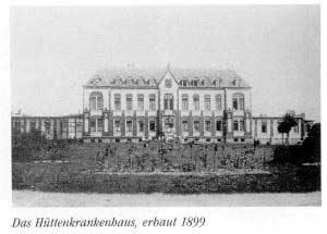 Altes Hüttenkrankenhaus (Foto: Sammlung des Heimatkundlichen Vereins Warndt)