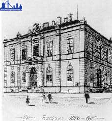 Zeichnung des geplanten Gemeindehauses