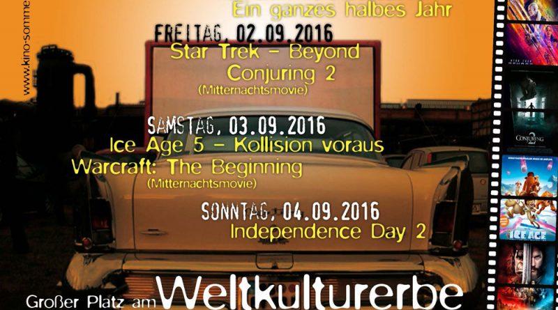 Autokino am Weltkulturerbe 2016 (Plakat: Veranstalter)