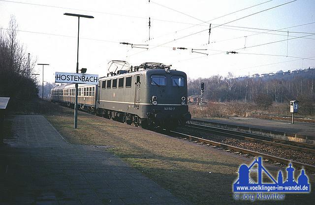 Bahnhof Hostenbach 1992 © Jörg Klawitter