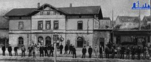 Bild des 1. Völklinger Bahnhofs aus dem Jahre 1860 (Rückansicht)