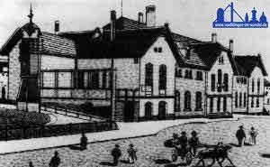 Der Völklinger Bahnhof um 1901