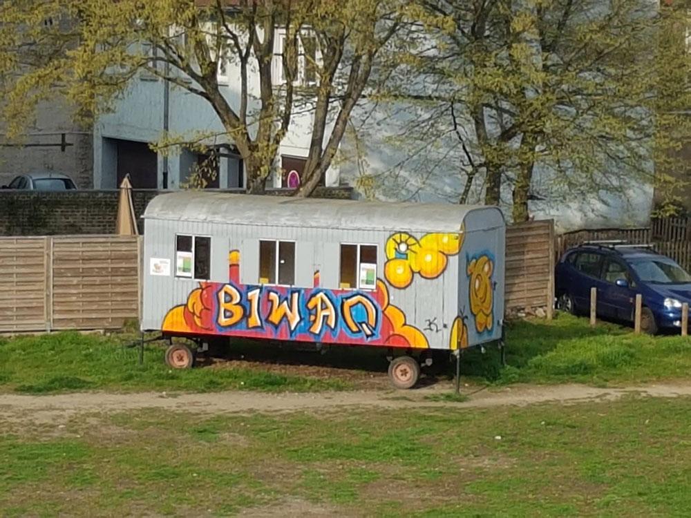 Der BIWAQ-Bauwagen (Foto: Hell)