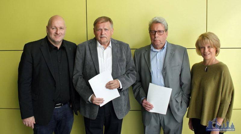 Bürgermeister Sellen, Herbert Mailänder, Frank Müller und Oberbürgermeisterin Christiane Blatt (Foto: Stadt VKL)