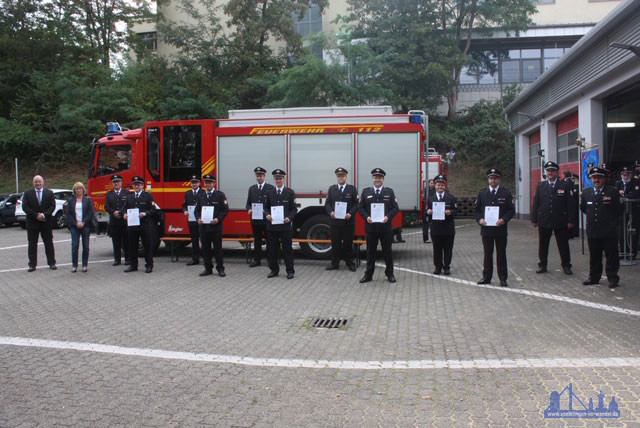Beförderung verdienter Wehrmitglieder im Löschbezirk Ludweiler (Foto: Stadt)