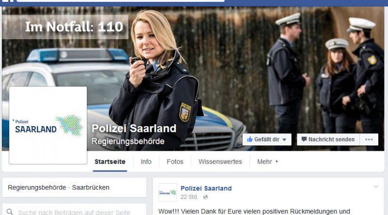 Der Auftritt der Saar-Polizei bei Facebook