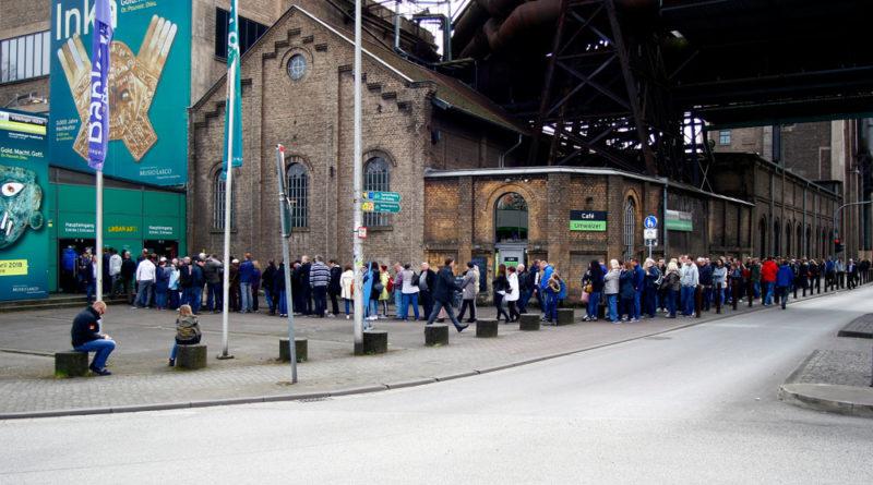 """Großer Besucheransturm zur Ausstellung """"Inka - Gold. Macht Gott."""" im Weltkulturerbe Völklinger Hütte © Weltkulturerbe Völklinger Hütte / Karl Heinrich Veith"""