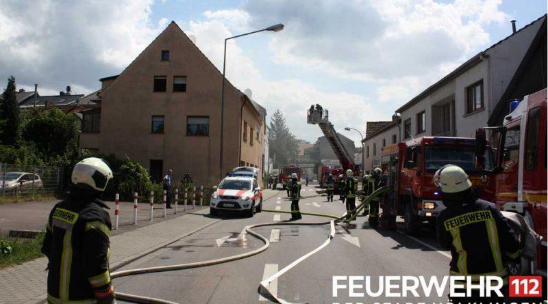 Brand in einem Fürstenhausener Badezimmer (Foto: Feuerwehr Völklingen)